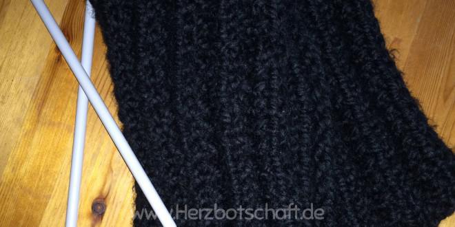 Strickanleitung: Hübscher Schal für Strickanfänger mit falschem ...