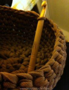 Häkelanleitung Textilgarn Körbchen Aus Recotton Oder Zpagetti