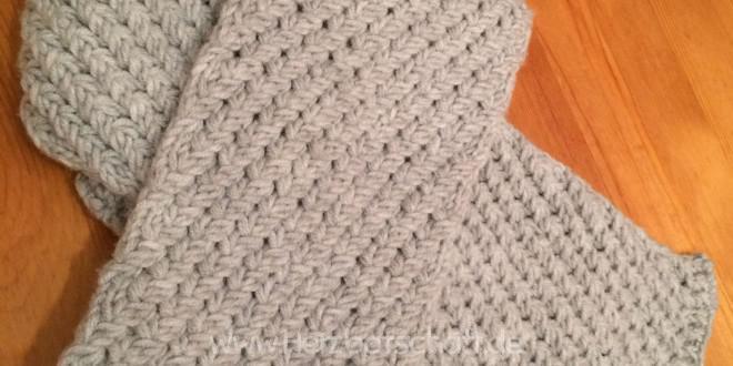 Winterschal für Männer stricken