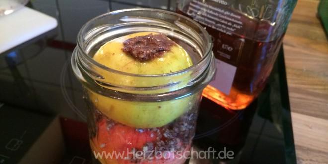 Bratapfel im Glas – ein leckeres, winterliches Mitbringsel