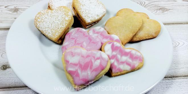Leckere Herzkekse zum Jahres- und Valentinstag