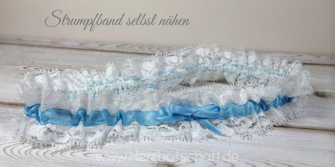 Selbstgemachtes Strumpfband für die Braut