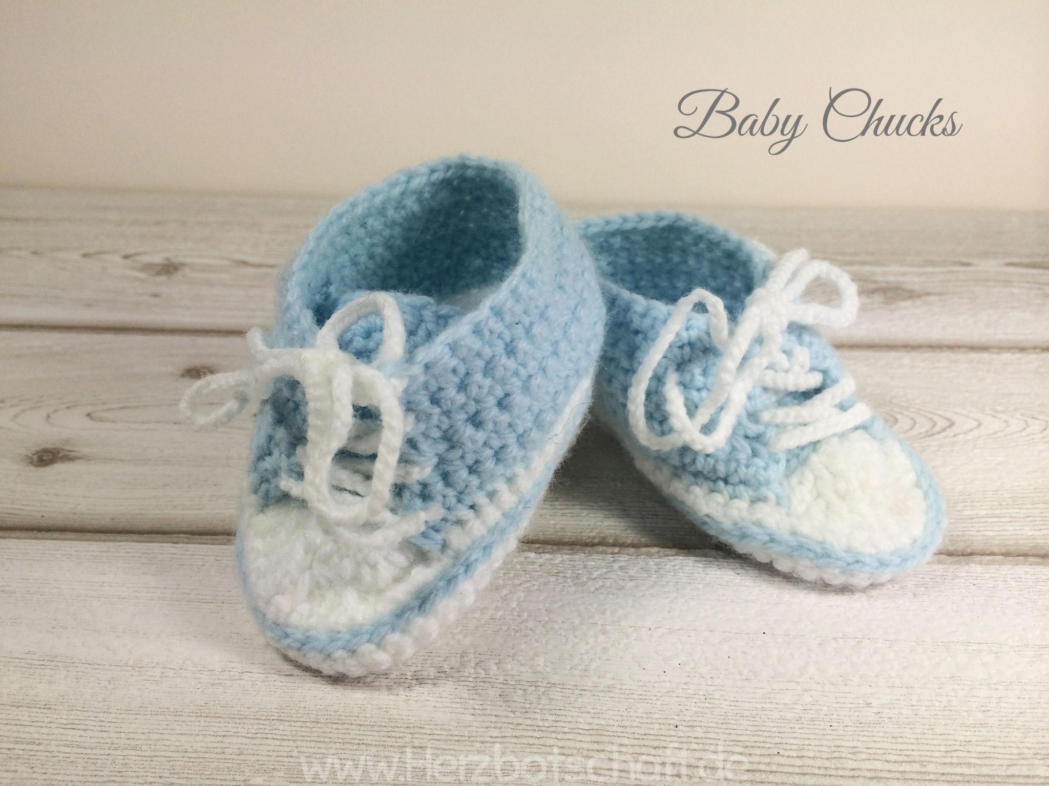 Anleitung Baby Chucks Häkeln Süße Babyschuhe Herzbotschaft