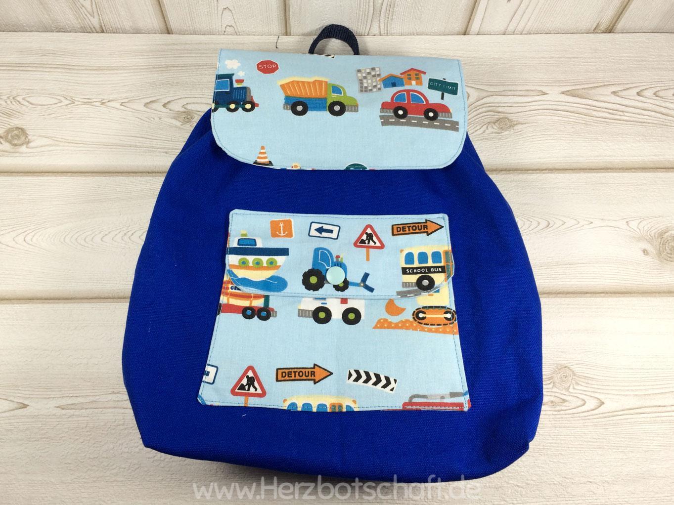 Kindergartenrucksack mit passendem Turnbeutel nähen ...