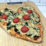 Herzpizza zum Valentinstag