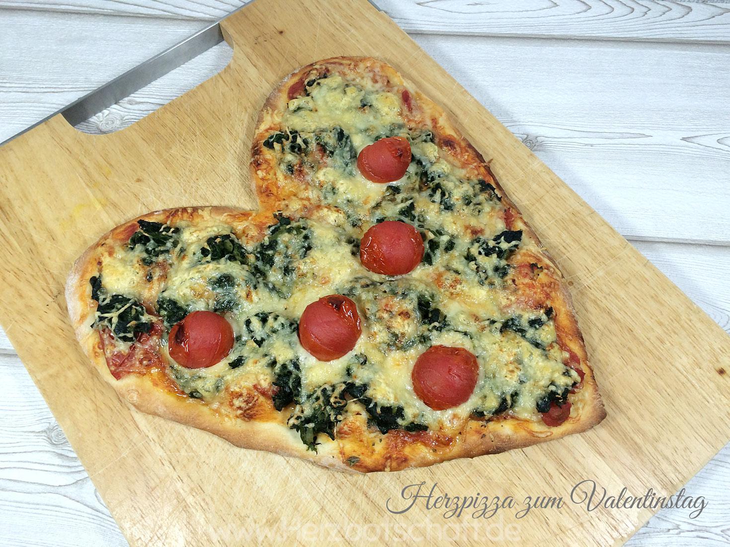 Herzpizza Zum Valentinstag Herzbotschaft De