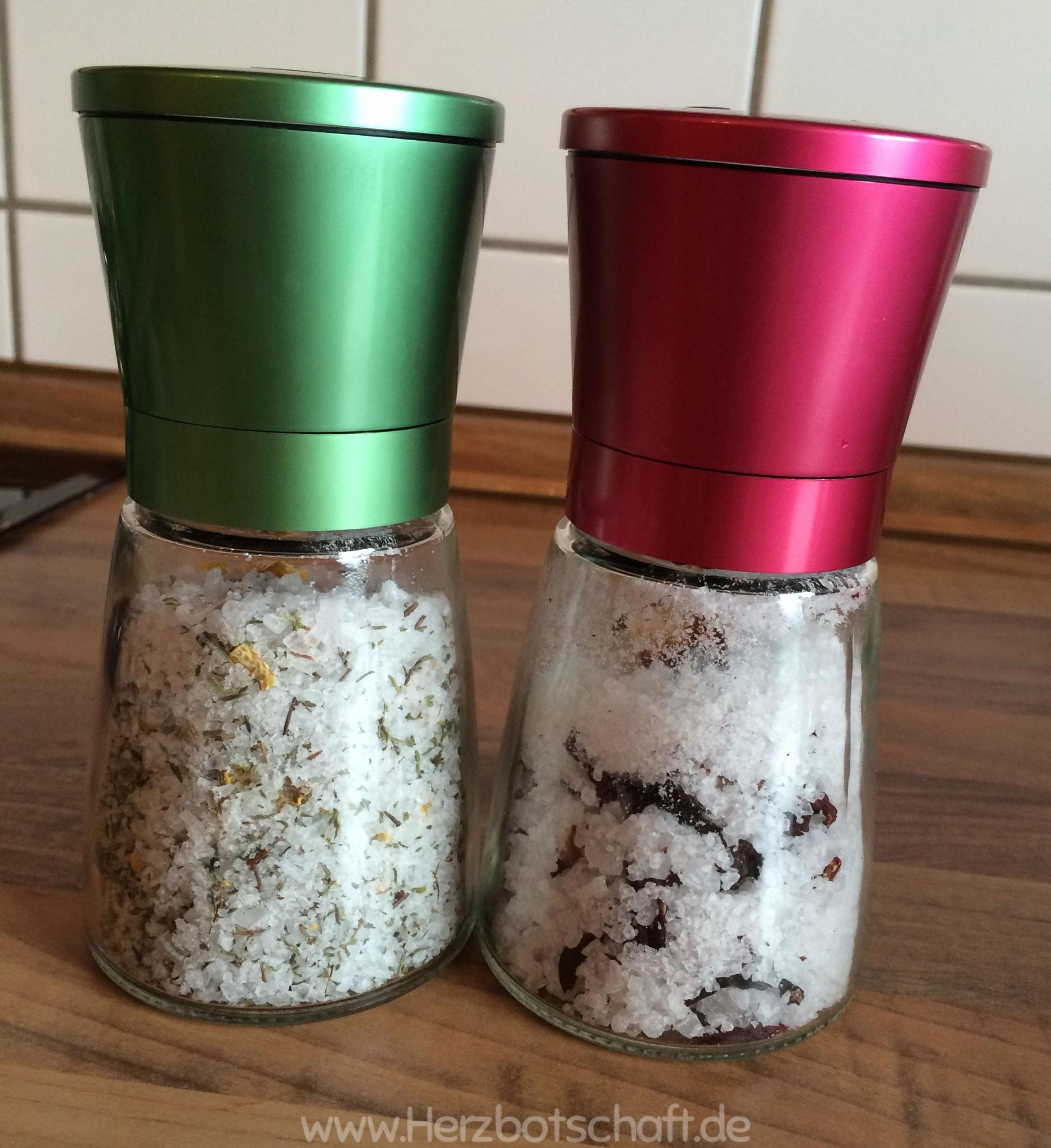 Selbstgemachte Salze als Geschenk für Genießer