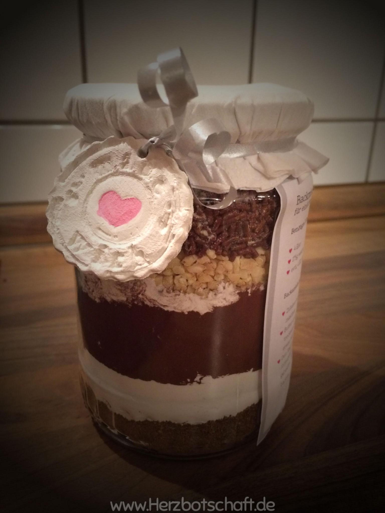 Brownies oder Cookies Backmischung im Glas