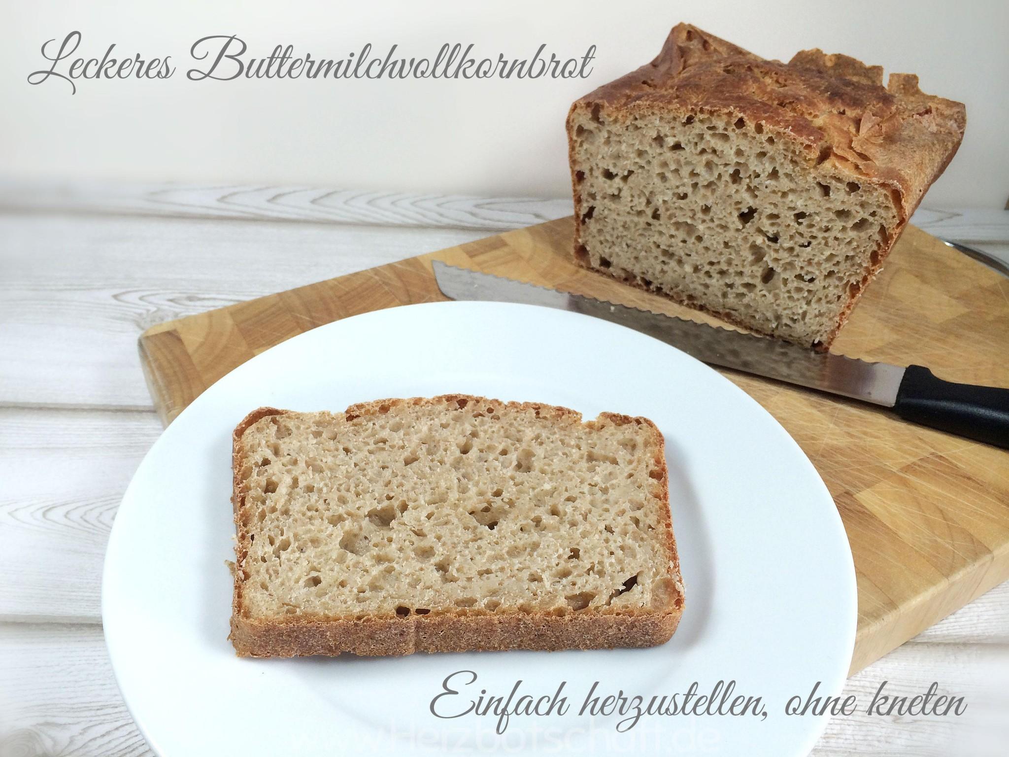 Leckeres Buttermilchbrot ohne kneten- einfach, gesund und schnell herzustellen